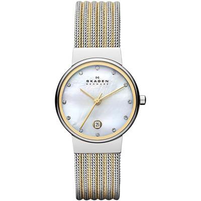 ساعت مچی زنانه اصل   برند اسکاگن   مدل 355SSGS