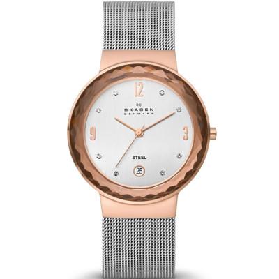 ساعت مچی زنانه اصل | برند اسکاگن | مدل 456LRS
