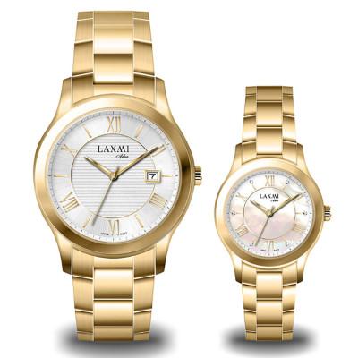 ساعت مچی ست مردانه - زنانه اصل | برند لاکسمی | مدل laxmi-8094-8095-2