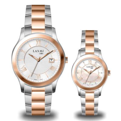 ساعت مچی ست مردانه - زنانه اصل | برند لاکسمی | مدل laxmi-8094-8095-4