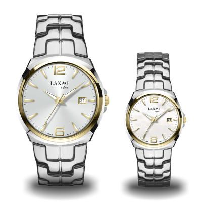 ساعت مچی ست مردانه - زنانه اصل | برند لاکسمی | مدل laxmi-8107-8108-3