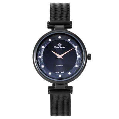 ساعت مچی زنانه اصل | برند اورسوئیس | مدل EV-2802M-LBB