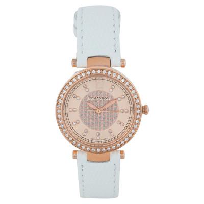 ساعت مچی زنانه اصل | برند رومانسون | مدل RL6A03QLWRACR1