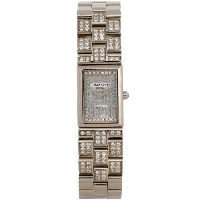 ساعت مچی زنانه اصل | برند رومانسون | مدل RM3255QL1WAS2W