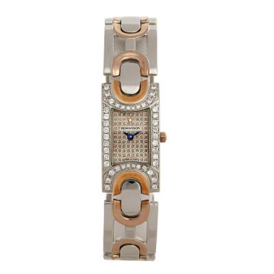 ساعت مچی زنانه اصل | برند رومانسون | مدل RM5168QL1JM16R