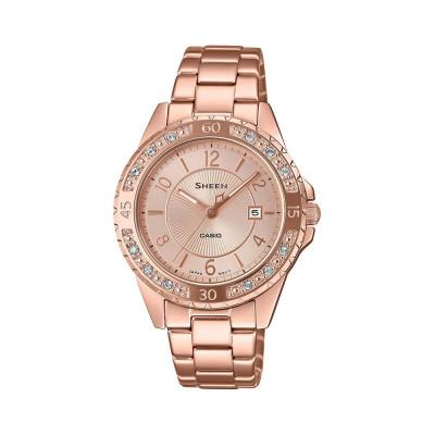 ساعت مچی زنانه اصل | برند کاسیو | مدل شین SHE-4532PG-4AUDF
