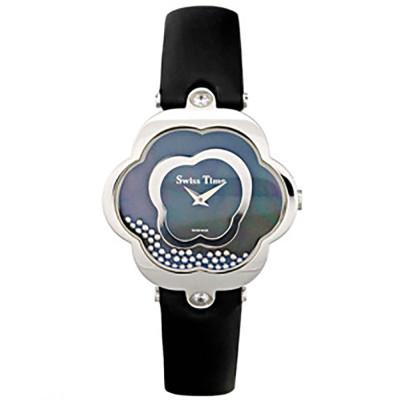 ساعت مچی زنانه اصل |برند سوئیس تایم | مدل ST-052-SSBlk/Bl