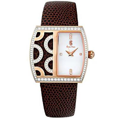 ساعت مچی زنانه اصل |برند سوئیس تایم | مدل ST-211-RGBrn/Wh