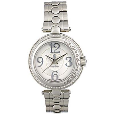 ساعت مچی زنانه اصل |برند سوئیس تایم | مدل ST-372-SS/Wh