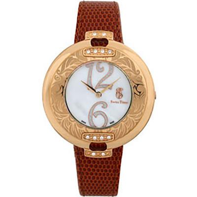ساعت مچی زنانه اصل  برند سوئیس تایم   مدل ST-725-RGBrn/Wh