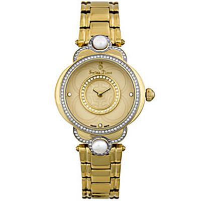 ساعت مچی زنانه اصل |برند سوئیس تایم | مدل ST-741-GP