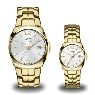 ساعت مچی ست مردانه - زنانه اصل | برند لاکسمی | مدل laxmi-8107-8108-2