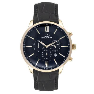 ساعت مچی مردانه اصل | برند لوتوسمن | مدل M904PGBB