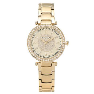 ساعت مچی زنانه اصل   برند رومانسون   مدل RM6A03QLGGA8R1
