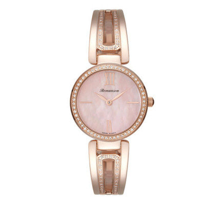 ساعت مچی زنانه اصل | برند رومانسون | مدل RM7A02QLRRMER1