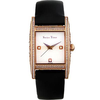 ساعت مچی زنانه اصل  برند سوئیس تایم   مدل ST-152-RGBlk/Wh