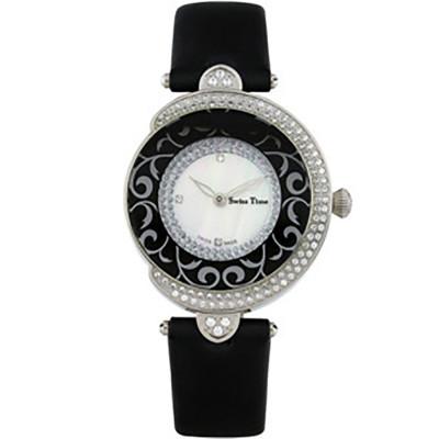 ساعت مچی زنانه اصل  برند سوئیس تایم   مدل ST-201-SSBlk/Wh