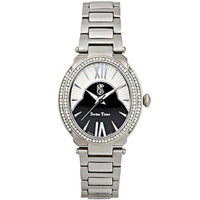 ساعت مچی زنانه اصل |برند سوئیس تایم | مدل ST-401-SS/Wh.Bl