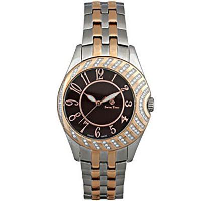 ساعت مچی زنانه اصل |برند سوئیس تایم | مدل ST-852-TT RG